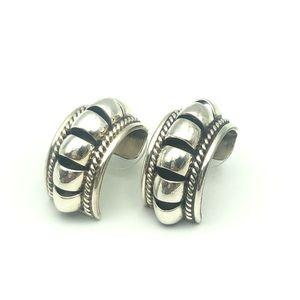 Navajo Handmade Sterling Silver  Earrings